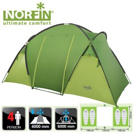 Четырехместная палатка Norfin Burbot 4